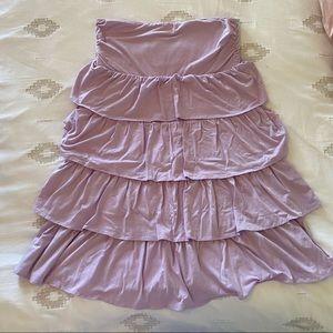J. Crew Gabriella Dress Lavender Ruffle Strapless
